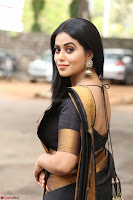 Poorna in Cute Backless Choli Saree Stunning Beauty at Avantika Movie platinum Disc Function ~  Exclusive 046.JPG