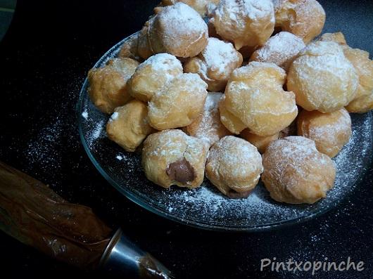 buñuelos sin gluten, chocolate,dulces, recetas de todos los santos, rellenos, trufa