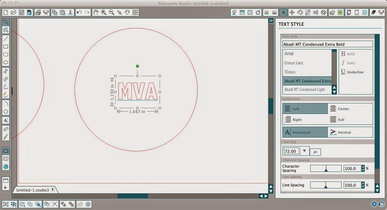 Circle monogram, Silhouette, Silhouette tutorial, Silhouette Studio, circle, initials