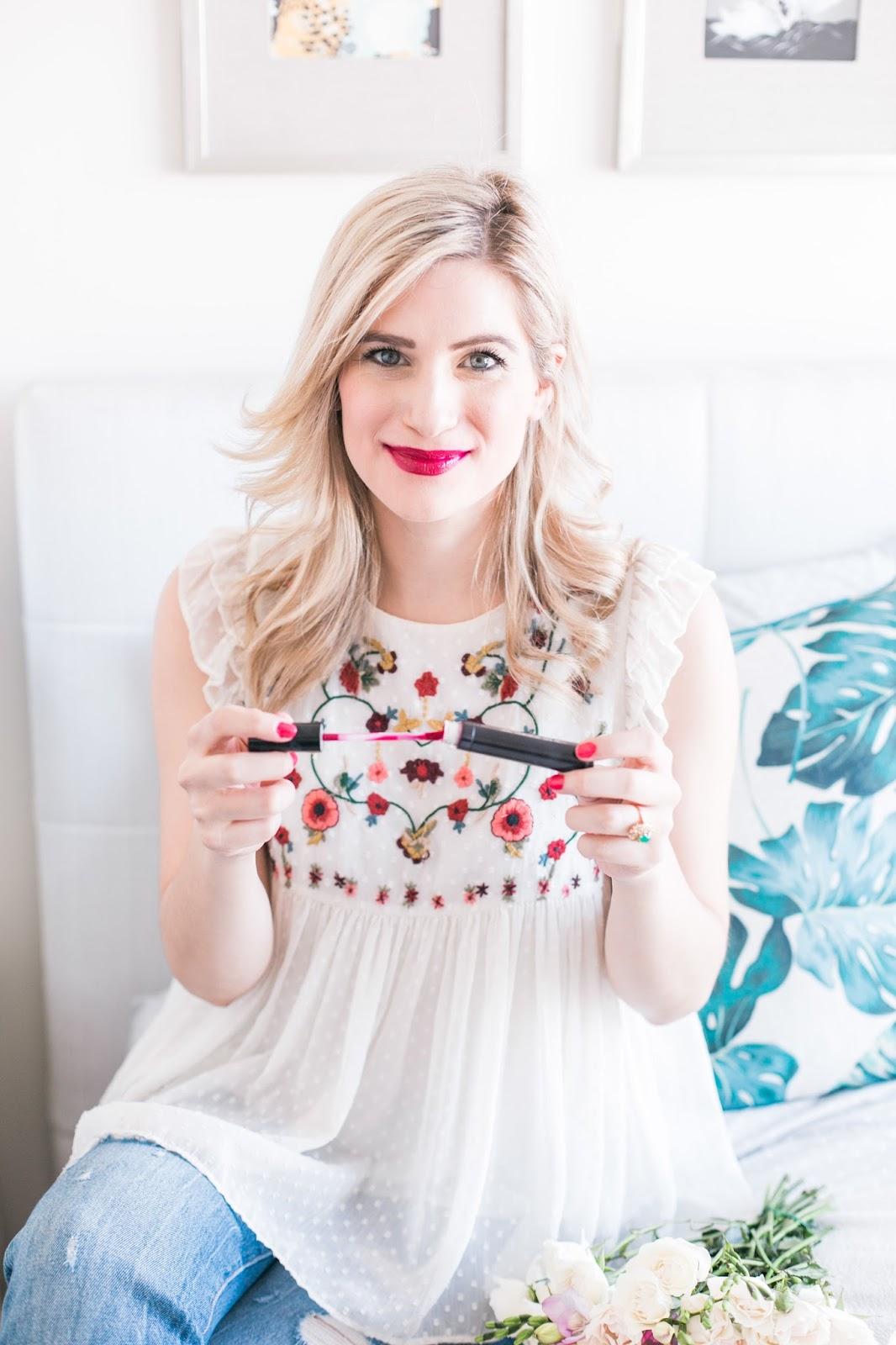 5 Pink Buxom Va-Va-PLUMP Shiny Liquid Lipsticks To Try This Spring - Wine Me Shade