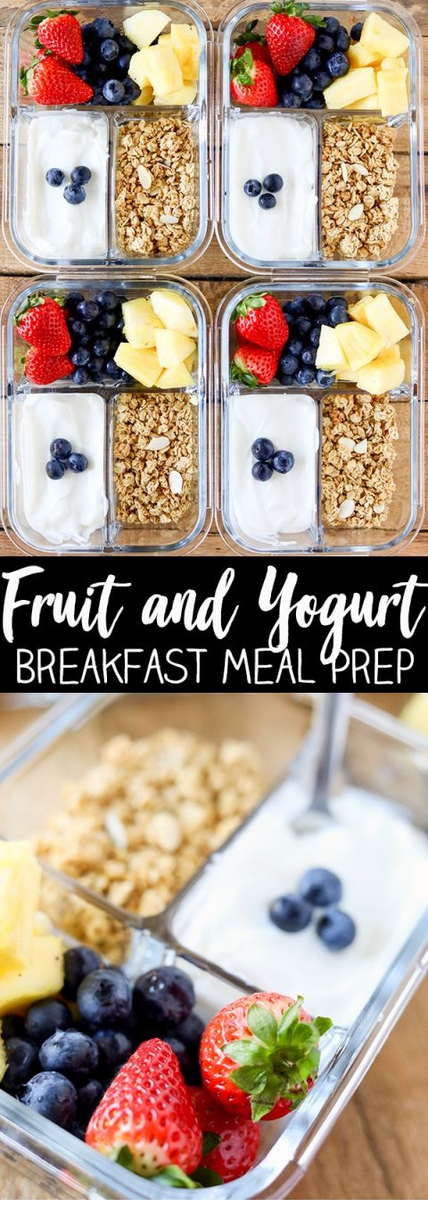 Breakfast Meal Prep Fruit And Yogurt Bistro Box