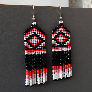 купить необычные украшения из бисера ручной работы симферополь сережки с бахромой цена