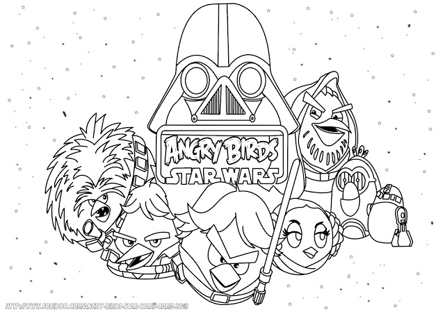 Angry birds star wars 2 coloring pages online