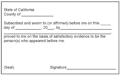 Brian Sample of Jurat Notary Public Form