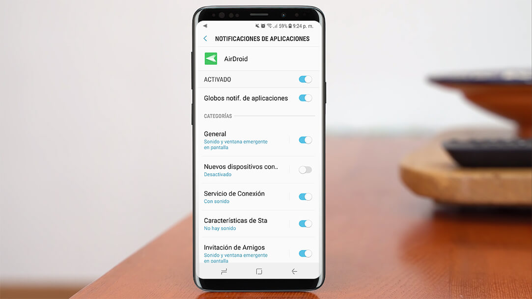 Ajustar notificaciones de aplicaciones en Android