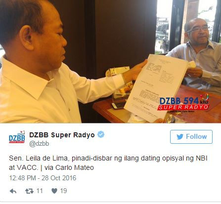 Another Disbarment Case Filed Against Senator De Lima Over Her Alleged 'Extramarital Affair'.