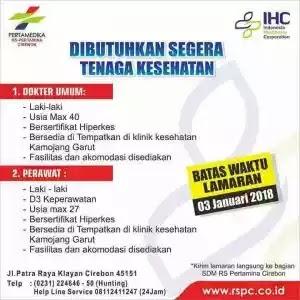 Lowongan Kerja Medis Di Rumah Sakit Pertamina Cirebon Terbaru