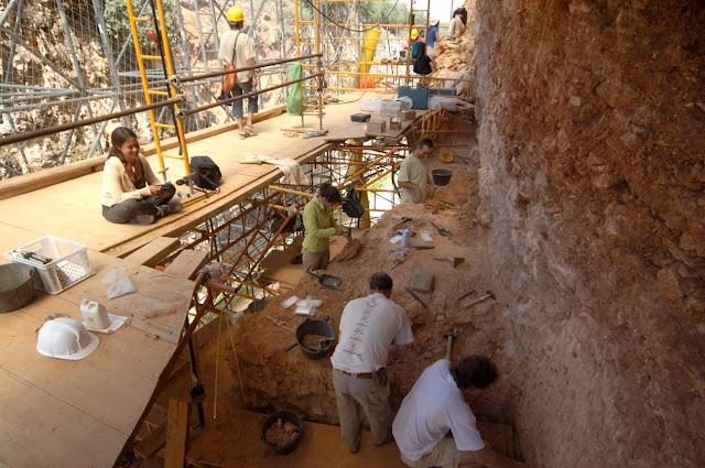 Excavaciones en la Gran Dolina. Foto: Andreu Ollé/IPHES