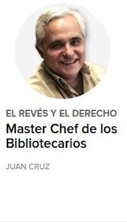 """""""El Master Chef de los bibliotecarios""""."""