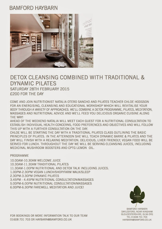 DETOX CLEANSING & DYNAMIC PILATES RETREAT at Haybarn spa, Daylesford