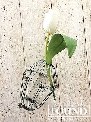 make flower frogs from repurposed JUNK homewardFOUNDdecor.com blog spring 2018