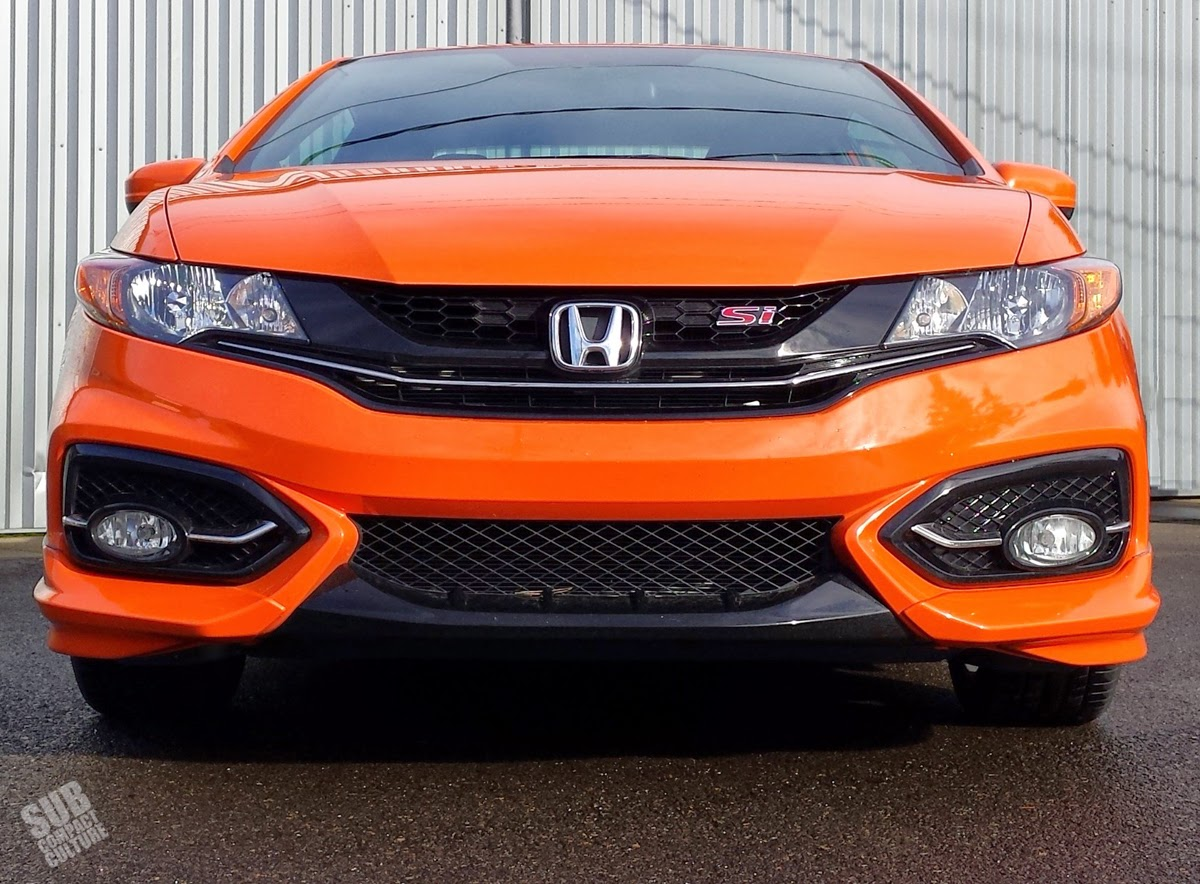 2014 Honda Civic Si Orange Fire Pearl front