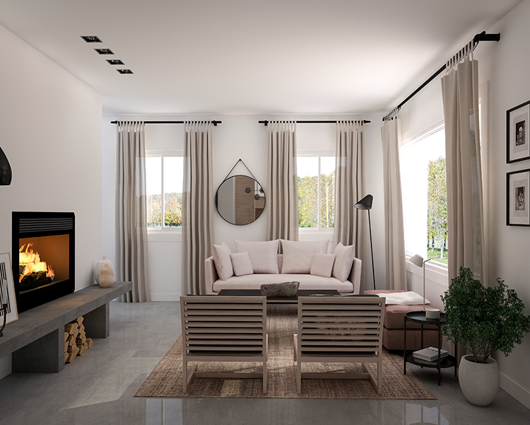 New In Portfolio Cozy Living Room In Warm Neutral Tones My Paradissi