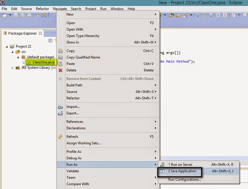 how to create class file in java