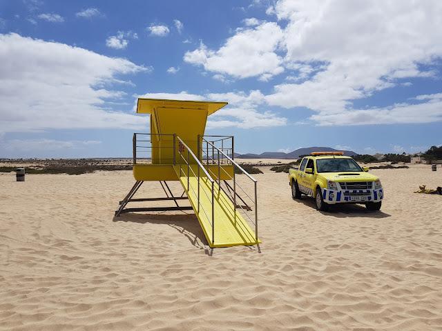 Grandes playas a Corralejo-Fuerteventura