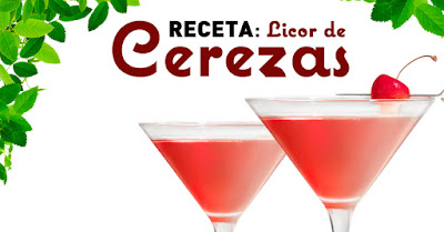Receta licor de cerezas