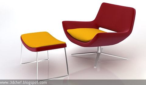 relaxing chair 3d model free