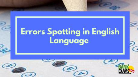 error spotting in english language