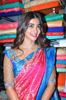 Puja Hegde looks stunning in Red saree at launch of Anutex shopping mall ~ Celebrities Galleries 070.JPG
