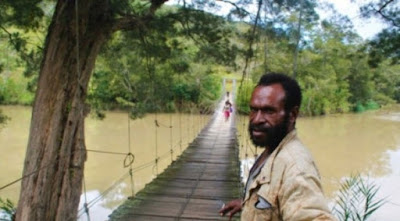 Jembatan Penghubung Empat Kampung di Jayawijaya Mulai Rusak