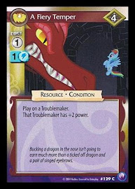 My Little Pony A Fiery Temper Canterlot Nights CCG Card