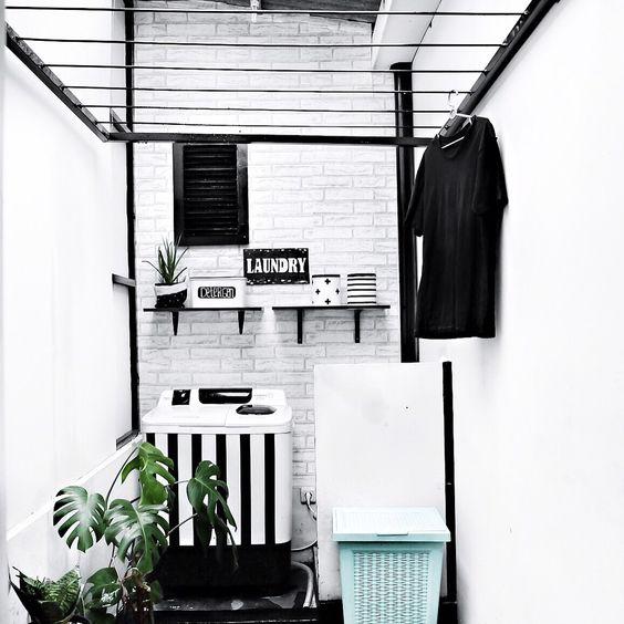 17 Desain Tempat Jemuran Dan Mencuci Baju Minimalis