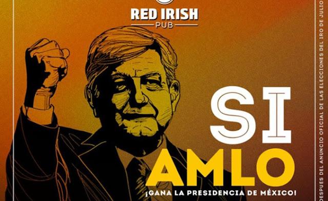 López Obrador, nachos, cervezas, bebidas