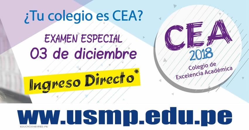Resultados USMP 2018 (3 Diciembre) Examen Especial Escolares - Primera Alternativa - CEA - Universidad de San Martín de Porres - www.usmp.edu.pe