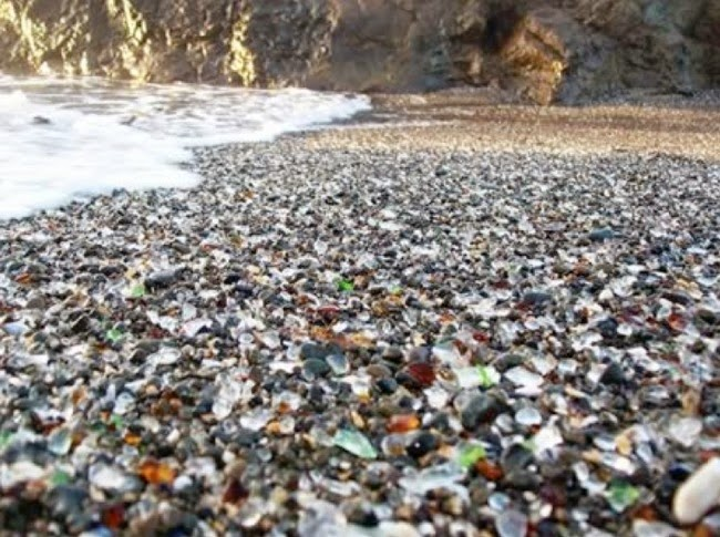 10.) Glass Beach - MacKerricher State Park, California - These 14 Beaches Are Uniquely Awesome. I Want To Go To There!