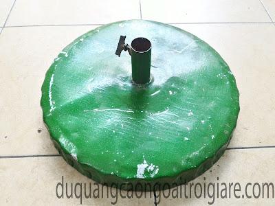 Đế tôn không vành bọc bê tông lót tôn mặt đáy 15kg