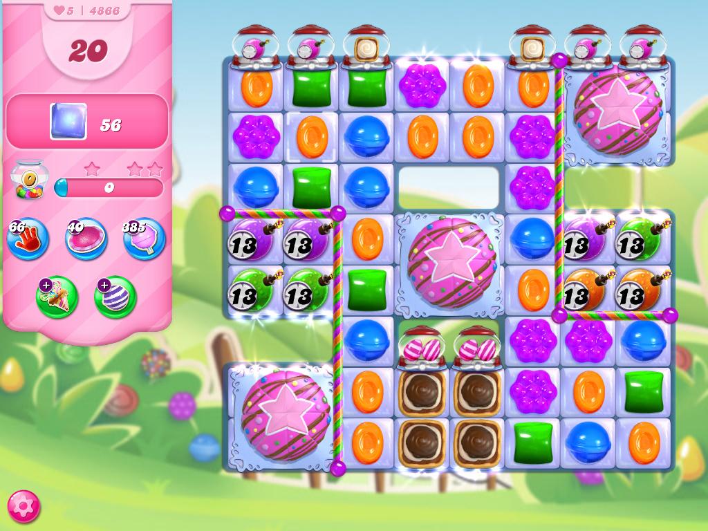 Candy Crush Saga level 4866
