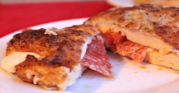 Pepperoni And Mozzarella Stuffed Chicken Recipe