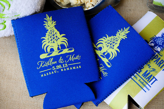 Pineapple Wedding Koozies