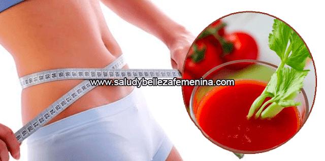 Batido potente para perder peso en una semana, este batido de tomate, pepino y apio, te ayudará a perder peso en una semana, gracias a la potente combinación de ingredientes.