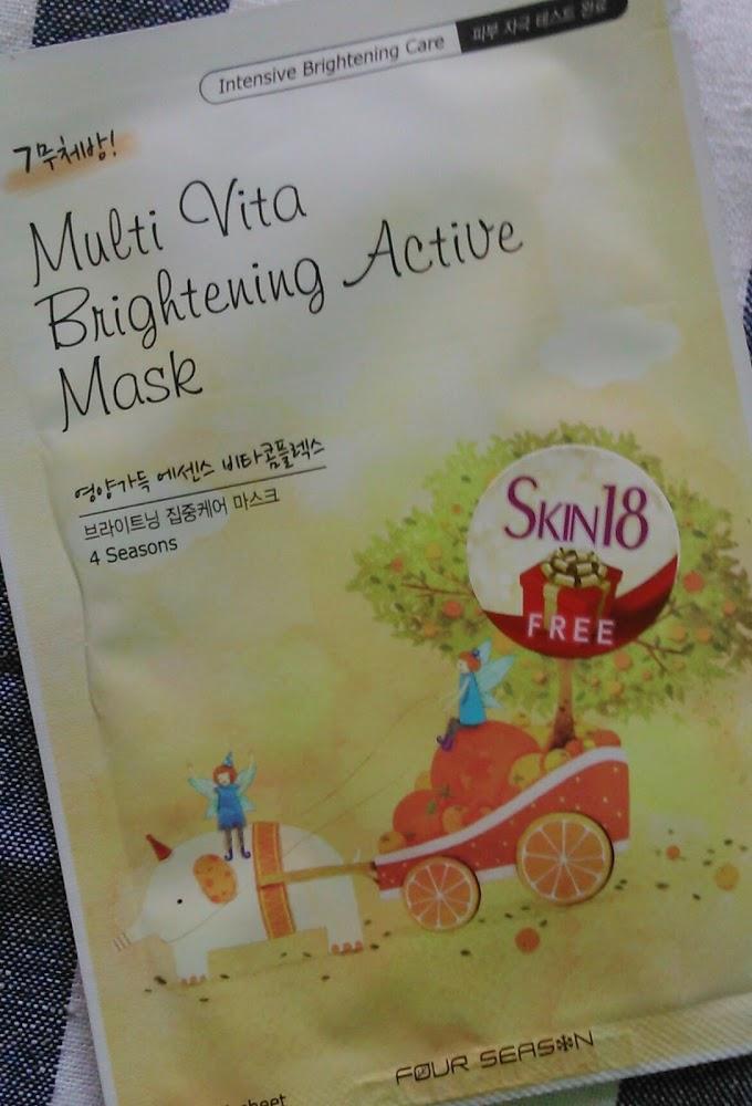 Four Season Multi Vita Brightening Active Mask Review, Price