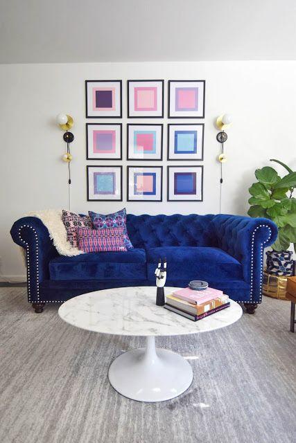 Mid-Century Glam Living Room