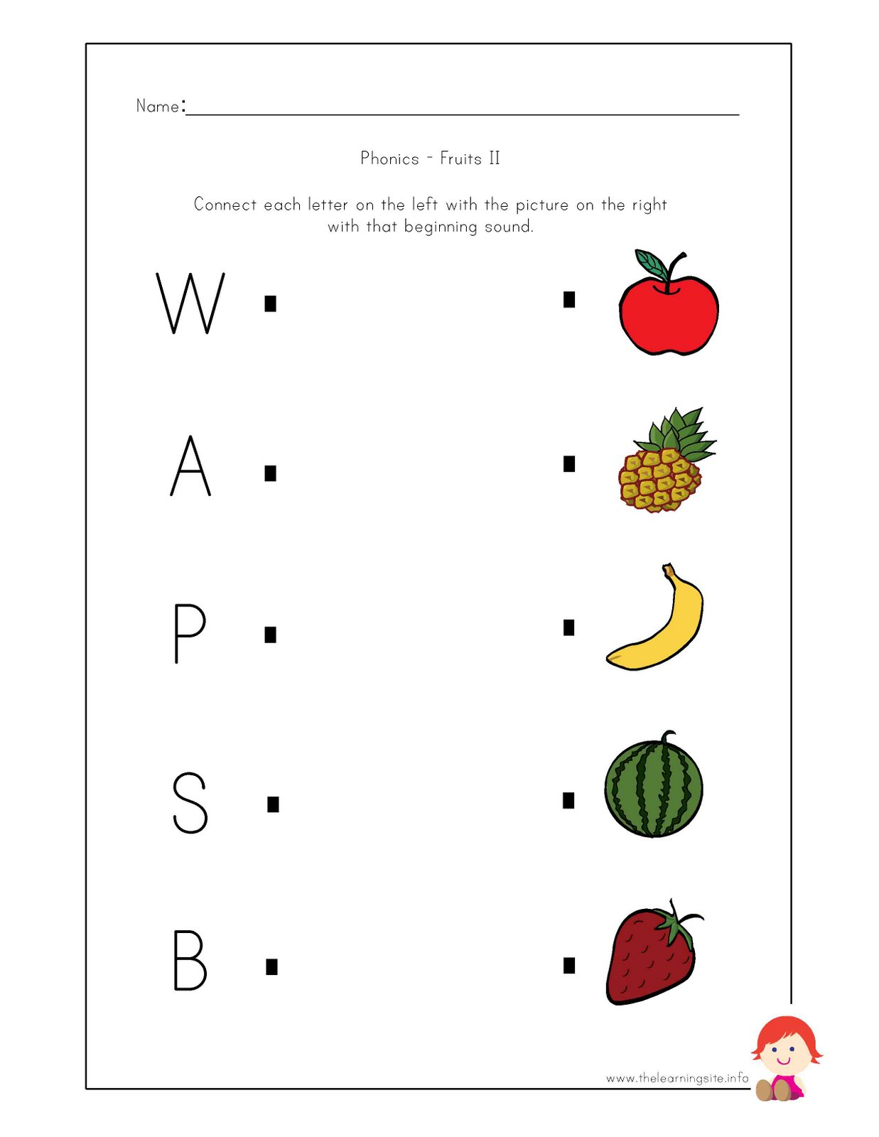 free preschool & kindergarten phonics worksheets