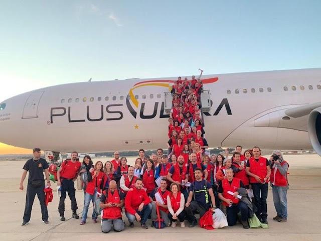 Un avión de Plus Ultra Líneas Aéreas despega a Mozambique con ayuda humanitaria