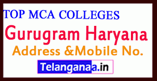 Top MCA Colleges in Gurugram Haryana