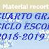 MATERIAL RECORTABLE (MATEMATICAS) 4° PRIMARIA CICLO ESCOLAR 2018-2019