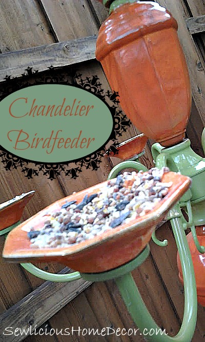 Chandelier Birdfeeder Patio Decor