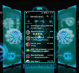 Droid Chat! v11.1.18 BBM MOD Jarvis Tech UI Base Version 3.0.0.18 Apk Gratis