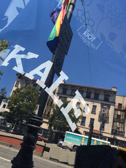 San Francisco kale rainbow flag