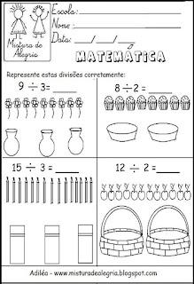 Atividade matemática divisões