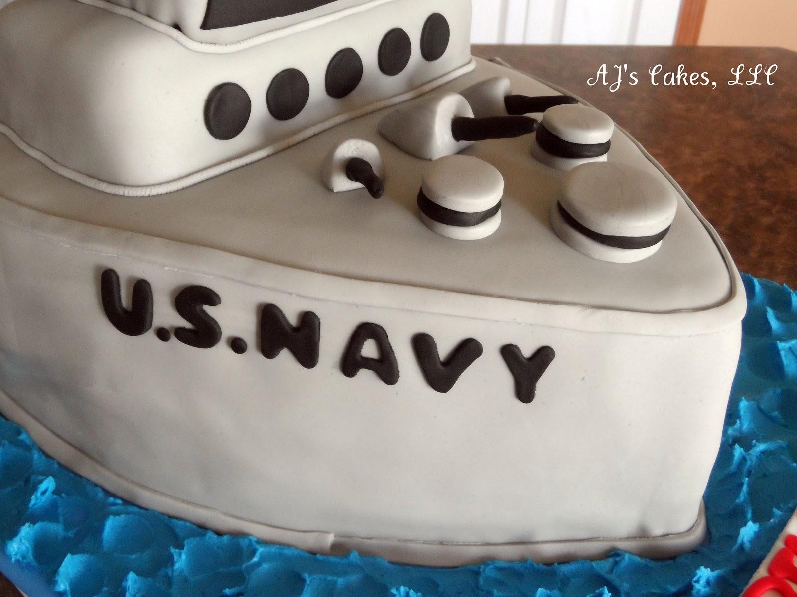 Aj S Cakes U S Navy Ship Cake