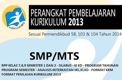 RPP Matematika Kelas VII, VIII, IX Kurikulum 2013 Edisi Revisi 2017 Lengkap
