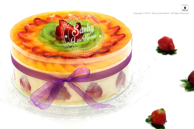Puding busa fruity by sashy little kitchen