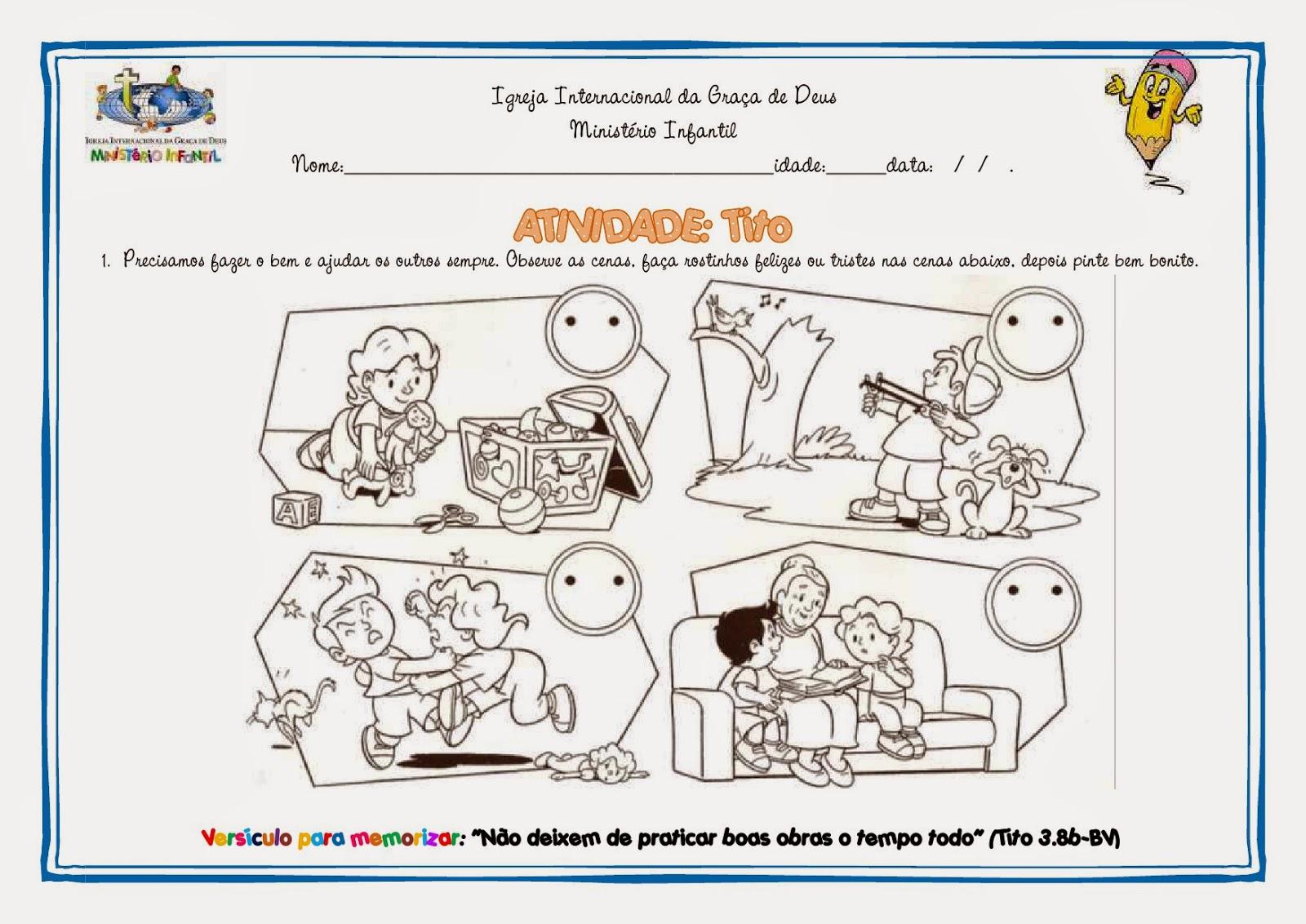 23 09 B 1 Atividades Preparatórias 2 Ofertas: Ministério Infantil Cascavel: Atividades