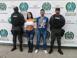 Beautiful Colombian model and TV presenter arrested for kidnapping