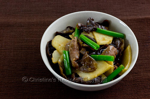Stir-Fried Yam Bean with Beef and Cloud Ears02